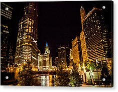 Chicago Riverwalk Acrylic Print by Melinda Ledsome
