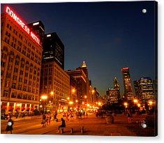 Chicago - S Michigan Ave 001 Acrylic Print