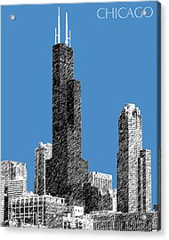 Chicago Sears Tower - Slate Acrylic Print by DB Artist