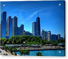 Chicago Skyline 002 Acrylic Print by Lance Vaughn