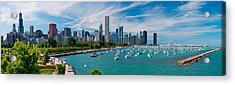 Chicago Skyline Daytime Panoramic Acrylic Print by Adam Romanowicz