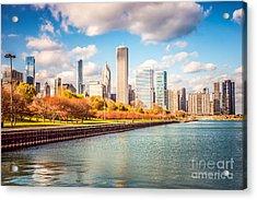 Chicago Skyline And Lake Michigan Photo Acrylic Print by Paul Velgos