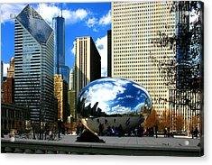 Chicago Skyline Bean Acrylic Print