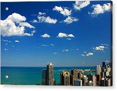 Chicago Skyline Big Sky Lake Acrylic Print