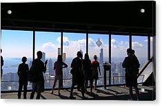 Chicago Skyline Acrylic Print by Ed Golden