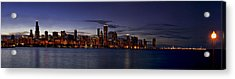 Chicago Skyline From The Lake Acrylic Print by Andrew Soundarajan