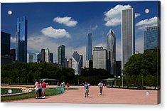 Chicago Skyline Grant Park Acrylic Print