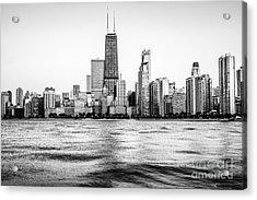 Chicago Skyline Hancock Building Black And White Photo Acrylic Print