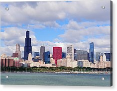 Chicago Skyline Over Lake Michigan Acrylic Print