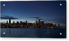 Chicago Skyline Panorama Acrylic Print by Andrew Soundarajan
