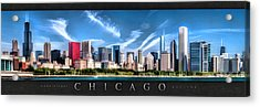 Chicago Skyline Panorama Poster Acrylic Print by Christopher Arndt