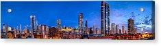 Chicago Skyline Photography - Blue Hour Cityscape Acrylic Print by Michael  Bennett