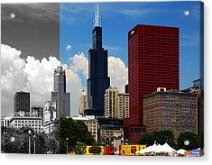 Chicago Skyline Sears Tower Acrylic Print