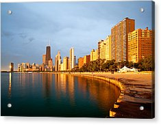Acrylic Print featuring the photograph Chicago Skyline by Sebastian Musial