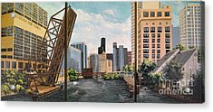 Chicago Skyline Triptych Acrylic Print
