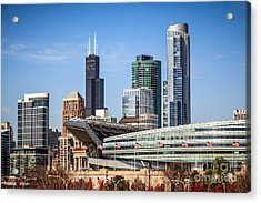 Chicago Skyline With Soldier Field And Sears Tower  Acrylic Print by Paul Velgos