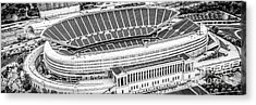 Chicago Soldier Field Aerial Panorama Photo Acrylic Print by Paul Velgos