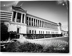 Chicago Solider Field Black And White Picture Acrylic Print by Paul Velgos