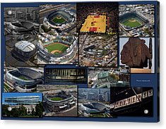 Chicago Sports Collage Acrylic Print by Thomas Woolworth