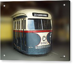 Chicago Street Car 20 Acrylic Print by Thomas Woolworth