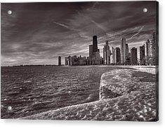 Chicago Sunrise Bw Acrylic Print by Steve Gadomski