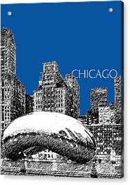 Chicago The Bean - Royal Blue Acrylic Print by DB Artist