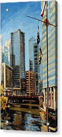 Chicago - The River From The East Acrylic Print
