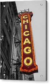 Chicago Theater Selective Color Acrylic Print