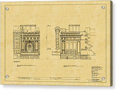 Chicago Theatre Blueprint 2 Acrylic Print