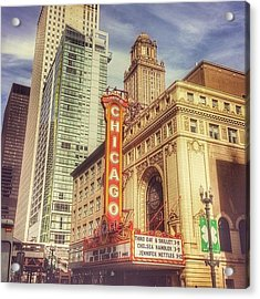 Chicago Theatre #chicago Acrylic Print