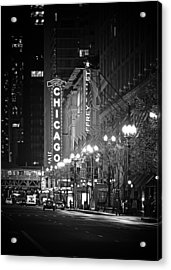 Chicago Theatre - Grandeur And Elegance Acrylic Print by Christine Till