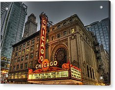 Chicago Theatre Hdr Acrylic Print