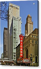 Chicago Theatre - This Theater Exudes Class Acrylic Print by Christine Till