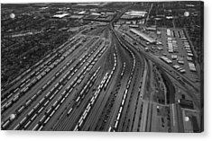 Chicago Transportation 02 Black And White Acrylic Print by Thomas Woolworth