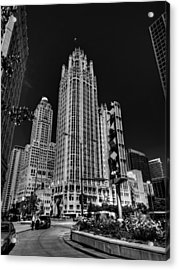 Chicago - Tribune Tower 001 Acrylic Print by Lance Vaughn