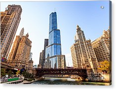 Chicago Trump Tower At Michigan Avenue Bridge Acrylic Print