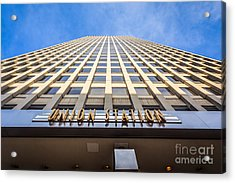 Chicago Union Station Sign And Building Exterior Acrylic Print by Paul Velgos