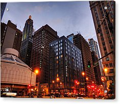 Chicago - Wabash And Wacker 001 Acrylic Print by Lance Vaughn