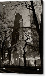 Chicago Water Tower B W Acrylic Print
