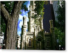 Chicago Water Tower Castle Acrylic Print