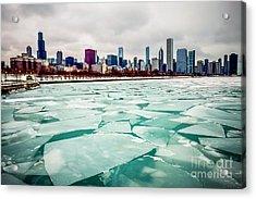 Chicago Winter Skyline Acrylic Print
