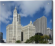 Chicago - Wrigley Building Acrylic Print by Christine Till
