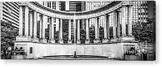 Chicago Wrigley Square Millennium Monument Panorama Photo Acrylic Print