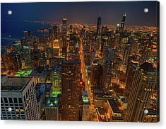 Chicagos Magnificent Mile Acrylic Print by By Ken Ilio