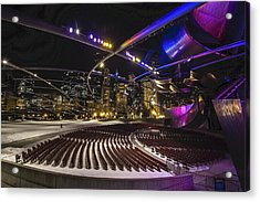Chicago's Pritzker Pavillion With Colored Lights  Acrylic Print