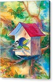 Chickadee Bungalow Acrylic Print