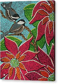 Chickadee's At Winter Time Acrylic Print