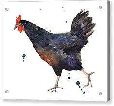 Chicken Chase Acrylic Print by Alison Fennell