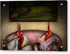 Chicken - Chick Flick Acrylic Print by Mike Savad