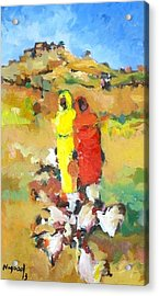 Chicken  Acrylic Print by Negoud Dahab